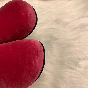 Gucci Shoes - GUCCI Softy Velvet Malaga Kid Horsebit Slippers 40